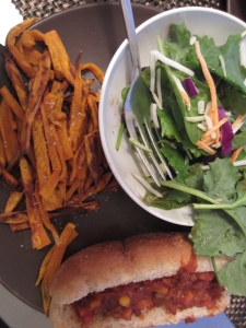 Vegan Sloppy Joes: Sweet potatoes, black beans, and tomatoes, OH MY!